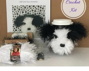 Crochet Pattern - Crocket Kit - Amigurumi Kit - Crochet Pattern Dog - Crochet Starter Kit - Crochet Gifts - Crochet Dog Pattern - Shih Tzu