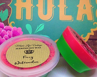 Fizzy Watermelon Scented Soy Wax Melt - Soy Wax Tart Pot - Wax Melts