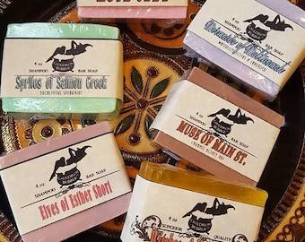 Shampoo Bar Soap - Your Choice of Scents! - Handcrafted Vegan Glycerin - Love Potion Magickal Perfumerie