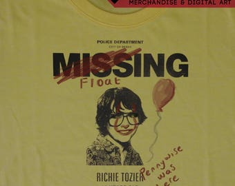 IT (2017 Movie) Missing 'Richie Tozier' Poster T-Shirt - Inspired by Stephen King's Novel and Bill Skarsgård's Pennywise - Tee by Rev-Level