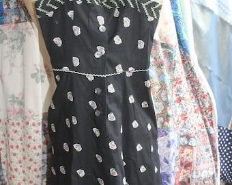cotton embroidred summer dress REF 614