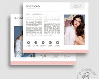 Multi Page Media Kit Template   Blog Media Kit Template For PowerPoint   Ad  Rate