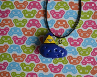 The Legend Of Zelda inspired Ocarina polymer clay pendant