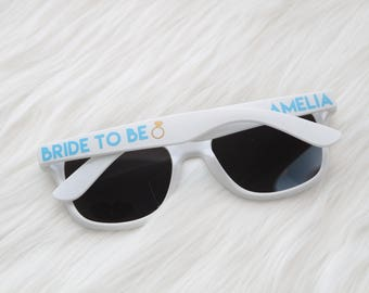 Wedding sunglasses - Bride to be - Fiance sunglasses - engagement - mr. and mrs. Team bride sunglasses - bachelorette party sunglasses
