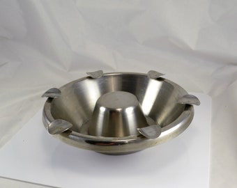 Stainless Steel Ashtray -  Large Heavy One of A Kind - Mechanic Workshop Man Cave - Outdoor Party Ashtray