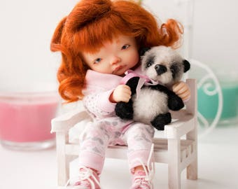 Miniature Panda for you and your doll. 2.75 inches.