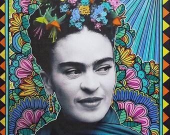 Frida Kahlo Headpiece Art Print