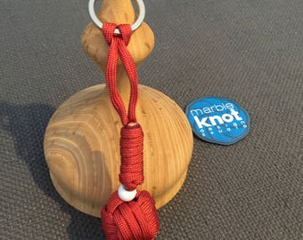 Monkey Fist Keychain - Solid Red