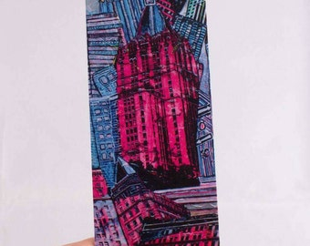 Bookmark - Bookmark for book Pink NYC my Art