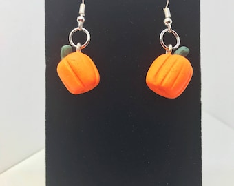 Pumpkin Earrings - Dangle - Gift - Birthday - Anniversary - Polymer Clay - Unique - Food Jewelry - Foodie - Fall - Autumn