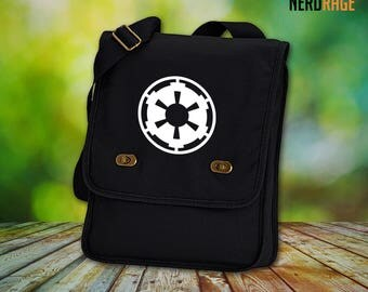Galactic Empire Canvas Field Bag - Cotton Canvas Bag - Star Wars Inspired Bag - Custom Bags Available