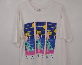 Cancun tee shirt // t shirt XL // vacation beach bum memorabilia