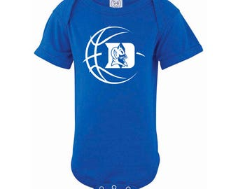 Duke Blue Devils Basketball Baby Bodysuit or Toddler Shirt - Blue
