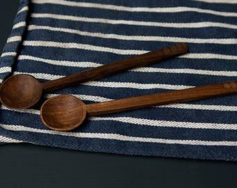 Hand Carved, Walnut, Faceted Jar Spoon - Konk! + Fiona de Wert