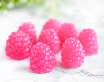 Raspberry Soap Set - Novelty Gift - Novelty Soap - Pink Glycerin Soap - Decorative Soaps - Gifts For Mom - Sister Gift - Glycerine Mini Soap