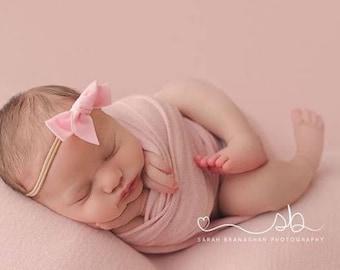 PRIMROSE VINTAGE VELVET Hand-tied Bow (Headband or Clip)- velvet bow headband; velvet bow; newborn headband; baby headband; toddler bow