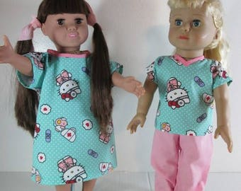 Hospital Patient Costume for 18 inch dolls