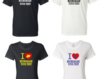 I Love Michoacan Mexico T-shirt with FREE custom text(optional)
