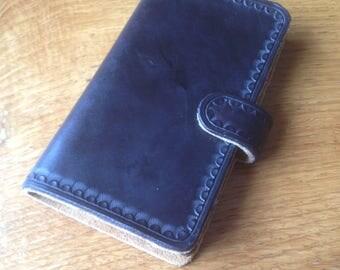 Hand Made Leather Phone case Iphone Samsung Customised Custom SE S8