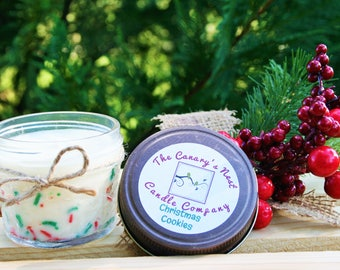 Christmas Cookies Candle, Holiday Scented Candles | Sprinkle Candle, Christmas Candle, Christmas Gift for Friend, Personalized Candle, Gifts