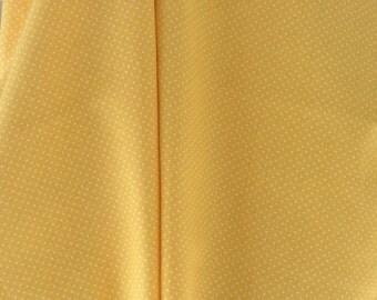 Yellow pin dot cotton fat quarter