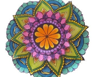 3D Colouring In Project - Mandala