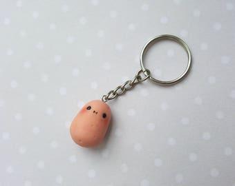 Kawaii potato keychain food key chain potato necklace sweet potato food jewelry best friend gift polymer clay charms friendship