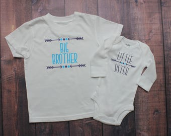 Big Brother, Little Sister, Sibling Combo, Sibling Shirt, Big Sister - Little Brother, Big Brother - Little Brother, Big Bro Little Sis