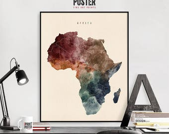Africa poster Etsy