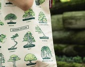 Gift for Gardeners. Bonsai Tree Styles Garden Canvas Tote Bag - Gifts for Botanists, Nature enthusiasts, Gardeners, Plant lovers