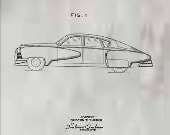 Tucker Automobile Patent #154192 dated June 14, 1949.