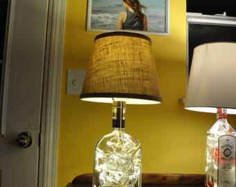 WoodFord Reserve Bourbon Repurposed Liquor Bottle Lamp with LED Lights