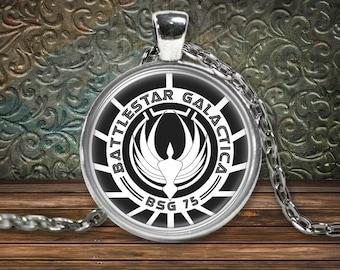 Battlestar Galactica Necklace, Battlestar, Galactica, So say we all, Spaceship, Kara thrace