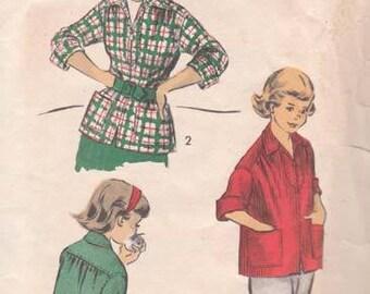 Vintage Advance 5988 Girls Sports Shirt Size 12 Breast 30