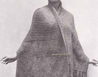 1919 Edwardian Petaluma Scarf Shawl Vintage Knit Knitting Pattern PDF