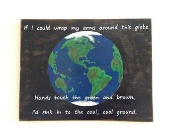 "Sale! Phish Lyrics, Hippie Art, ""Time Turns Elastic,"" Globe Painting, Phish tour, Earth painting, Earth Day"