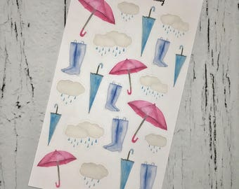 Rainy Day Deco Stickers