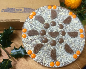 Orange Appealing Chocolate Pizza