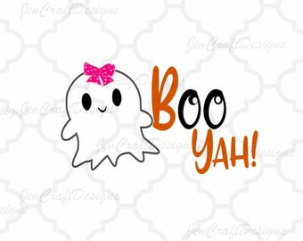 Boo Yah SVG Halloween saying, ghost svg, halloween svg, fall autumn svg, SVG, EPS, Dxf, Png, Cricut, Silhouette, Ghoul Cut File Clip art