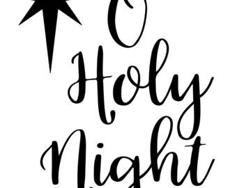 O Holy Night SVG File