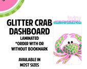 GLITTER CRAB Laminated Dashboard for Traveler's Notebook | .3mil | DB027