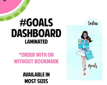 Tiffanys #GOALS BRUNETTE  Laminated Dashboard for Traveler's Notebook | .3mil | DB046