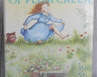 Laura Ingalls Wilder Book: On The Banks of Plum Creek, Children's Hardcover, Garth Williams - Illustrator, Library Dust Jacket
