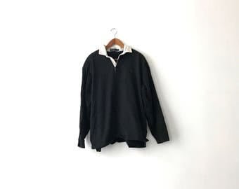 Heavy 90s Polo Ralph Lauren Rugby Shirt - L