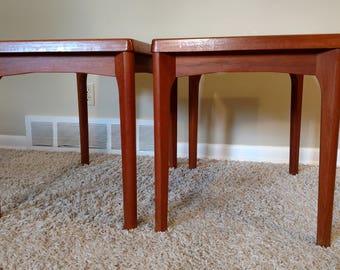 Danish Modern Vejle Stole Mobelfabrik Pair of End / Side Tables Tables