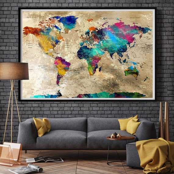 wall decor living room world map wall art home decor wall 17 best ideas about living room paintings on pinterest