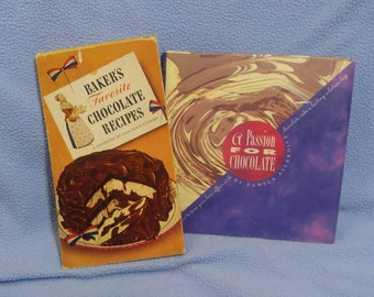 SALE! 1945 Advertiser Cookbook- Baker's Favorite Chocolate Recipes & A Passion For Chocolate by P Allardice (was 6.00)