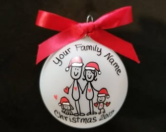 Family ornament,Personalized family Christmas ornament,custom personalized family christmas ornament,angle ornament,handpainted, gift