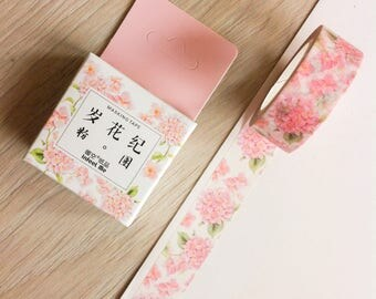 Cute washi tape - pink flowers #2 - infeel me | Cute Stationery