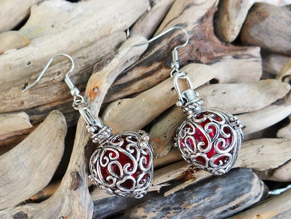 Harry Potter Inspired Amortentia Love Potion Magic Magical Heart Shaped Harmony Ball Earrings Earring Ear Ring Rings Earing Love Spell